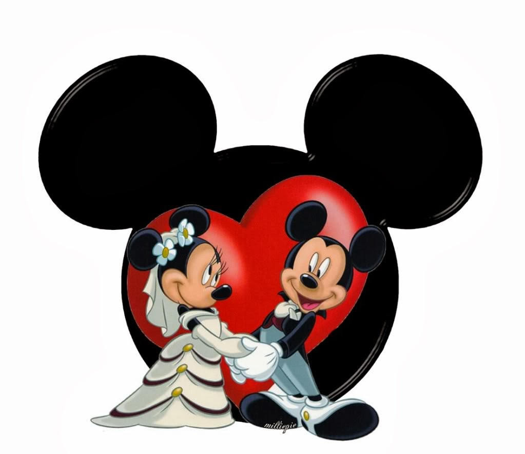 minnie and mickey wedding free printables oh my fiesta in english. Black Bedroom Furniture Sets. Home Design Ideas