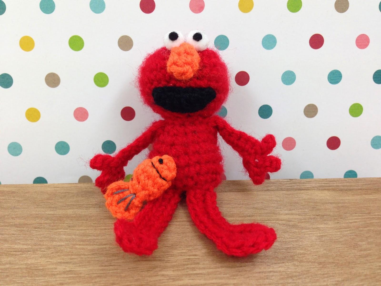 Amigurumi Cookie Monster Free Pattern : stuff susie made: Mini Crochet Elmo - free crochet ...