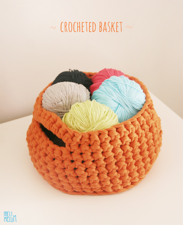 crocheted basket // by melimelum