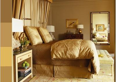 dormitorio color dorado