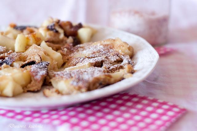 omlet cesarski, omlet pełnoziarnisty, zdrowy omlet, fit omlet, omlet cesarski pełnoziarnisty, omlet z cukrem różanym