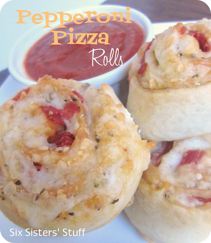Pepperoni Pizza Rolls Recipe | Six Sisters' Stuff