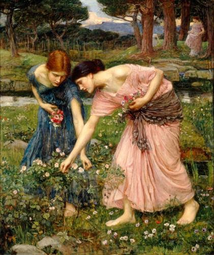 http://www.johnwilliamwaterhouse.com/pictures/gather-ye-rosebuds-1909/
