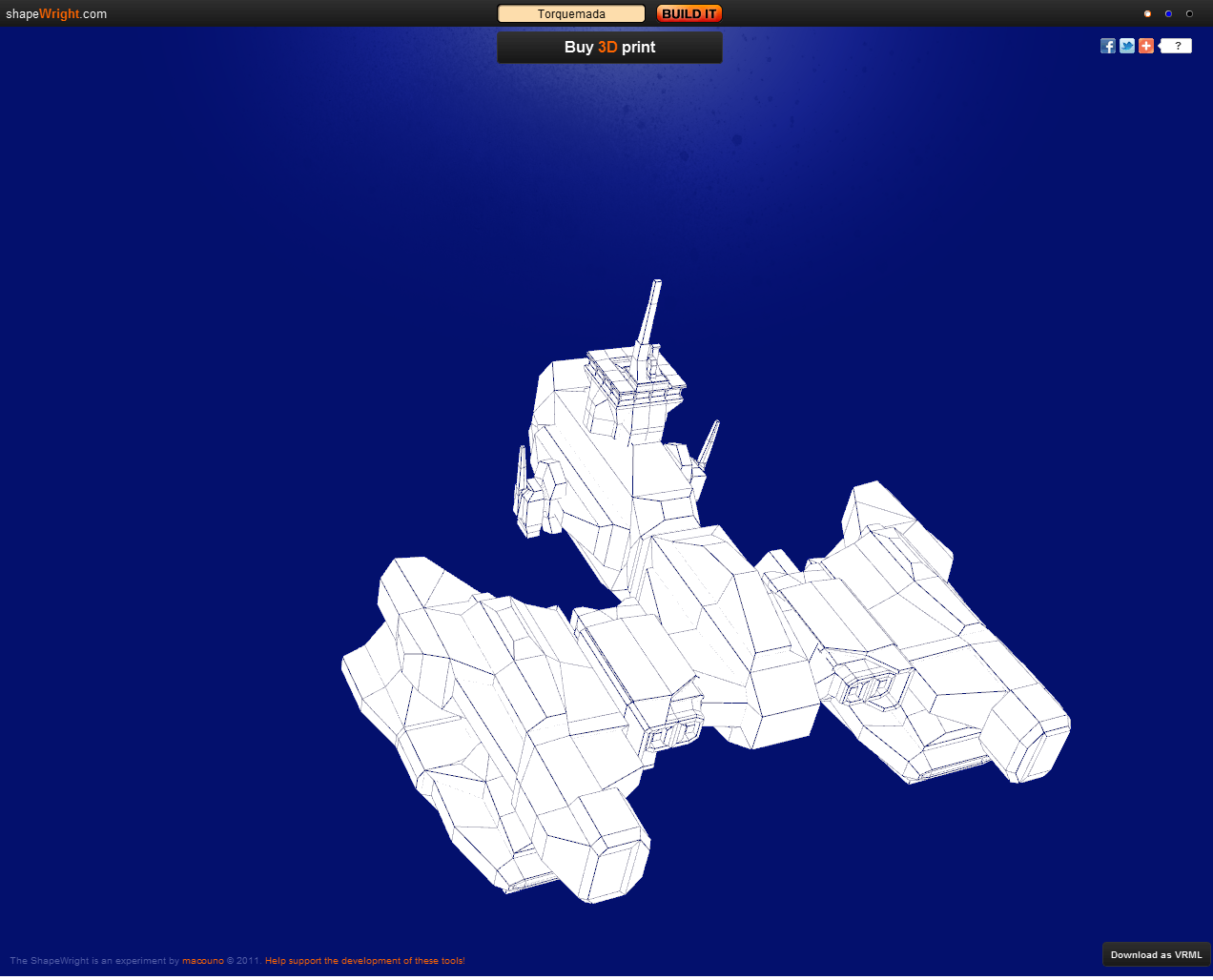 Exonauts Create A Random 3d Spaceship With Shapewright