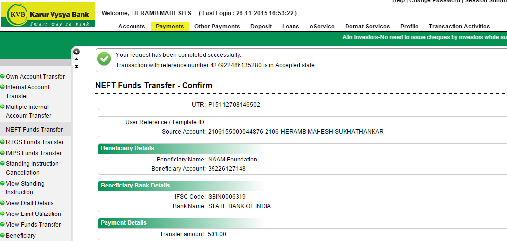 was ist bank transfer payment
