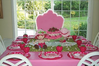 Party Decoration Ideas on Clyde S Cupcake Magic  Strawberry Shortcake Birthday Party