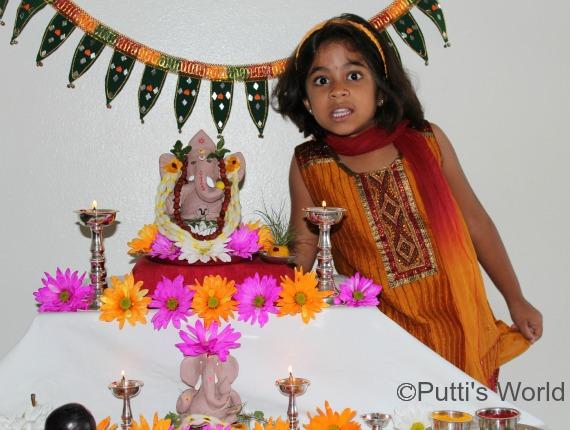 Ganesha Festival clay idol