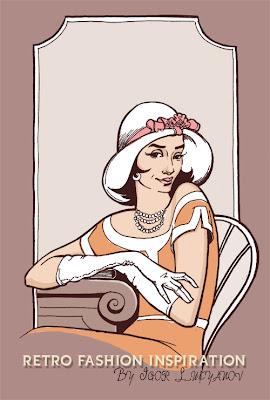 mode vintage, femme retro