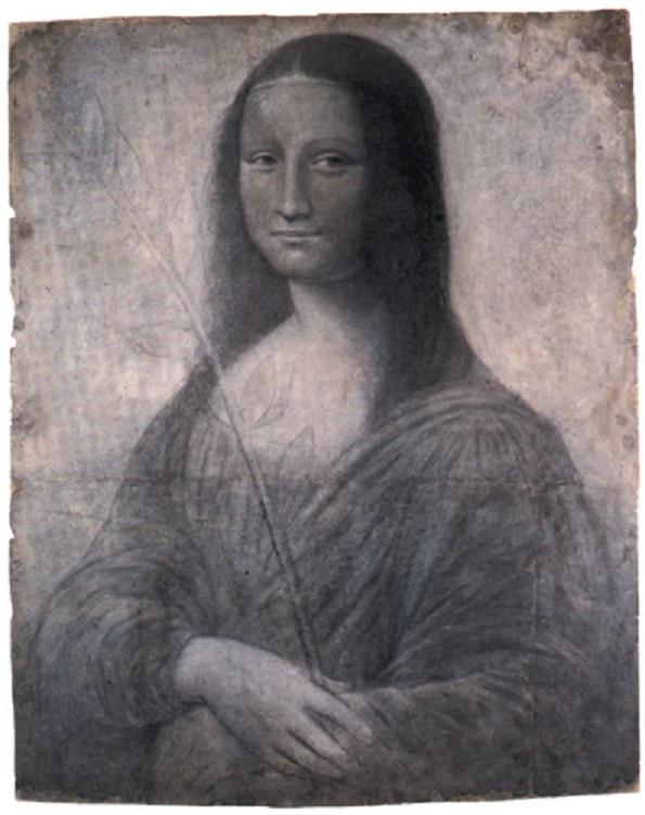 Bosquejo La Gioconda o Mona Lisa - Leonardo da Vinci
