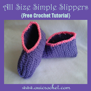 Crochet, Crochet Resources, Crochet Tutorial, Free Crochet Pattern,Slippers, Simple Slippers, How to Size Crochet Slippers,