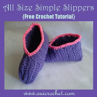 Crochet, Crochet Resources, Crochet Tutorial, Free Crochet Pattern,Slippers, Simple Slippers, How to Size Crochet Slippers,