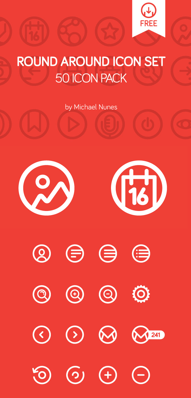Round Around 50 icon pack | free