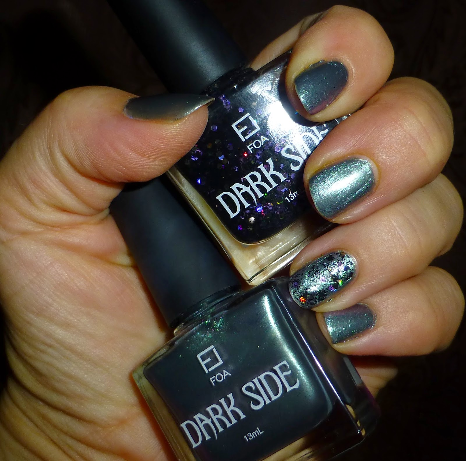 IndieAna- In Search of the HolyGrail: Simple NOTD Sunday- FOA Dark ...