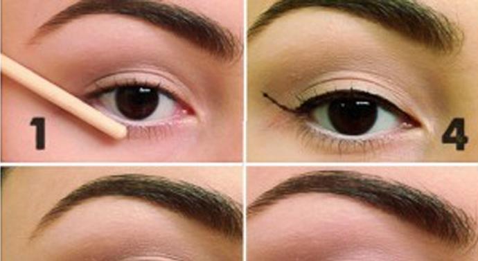 Commit Winged eyeliner step by step