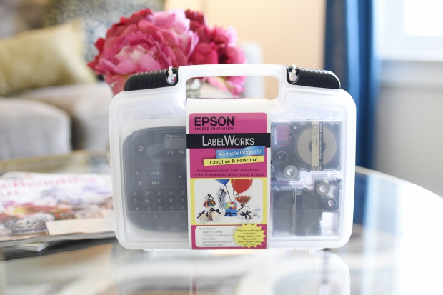 A blogger's review of the Epson LabelWorks Printable Ribbon Kit which allows you to print your own personalized ribbon at home in minutes! Perfect for crafts, gifts, and parties.