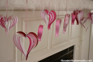 paper craft for tweens heart garland