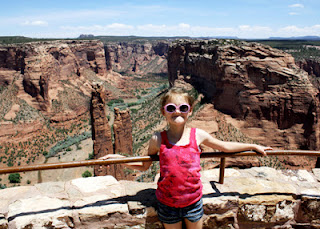 Tessa sported one of her infamous goofy smiles at Spider Rock Overlook at Canyon de Chelly National Monument. We hired a local Navajo tour agency to take us on a three-hour jeep tour through the bottom of the canyon where over two thousand well-preserved ruins are tucked within the cliff walls. The canyon is absolutely gorgeous!