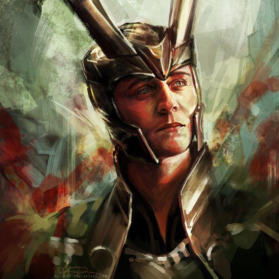 Alice X. Zhang alicexz deviantart pinturas de filmes séries Loki