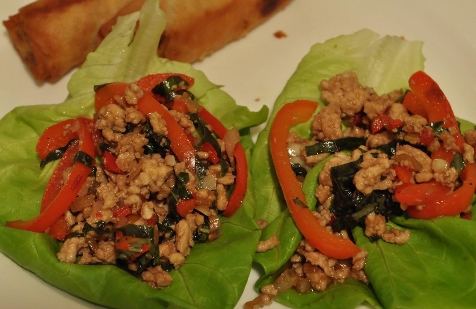 My Tiny Oven: Thai Turkey and Basil Lettuce Wraps