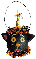 Halloween cat ornament