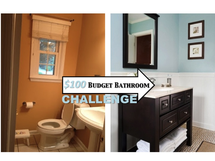 Economical Bathroom Makeovers two it yourself: reveal: $100 small bathroom makeover!!! (tons of