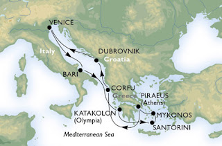 Map Courtesy of MSC Cruises