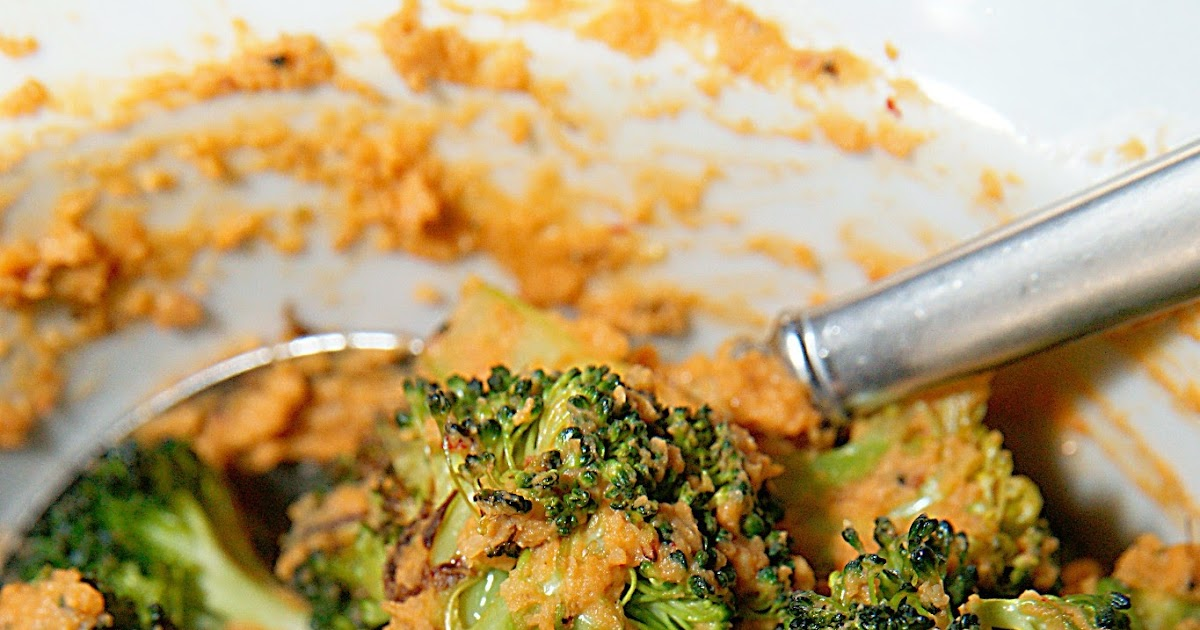 Savory Sweet and Satisfying: Hummus Roasted Broccoli