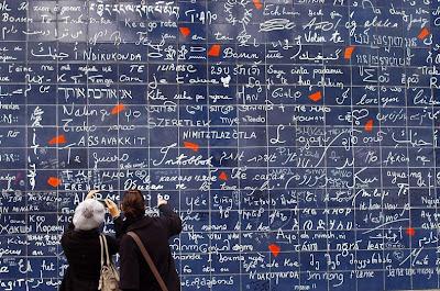 Dinding I Love You, ungkapkan cinta dalam berbagai bahasa