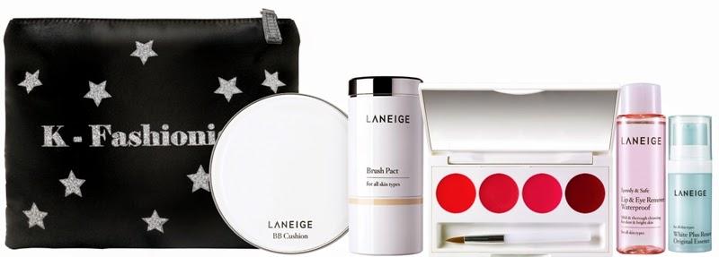 Laneige Glitzy BB Cushion Whitening Set, Gift Set, Laneige 2014 Holiday Collection, Laneige, Holiday Set, Christmas Set, Skincare, Makeup, Beauty