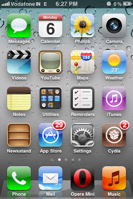 iphone homescreen