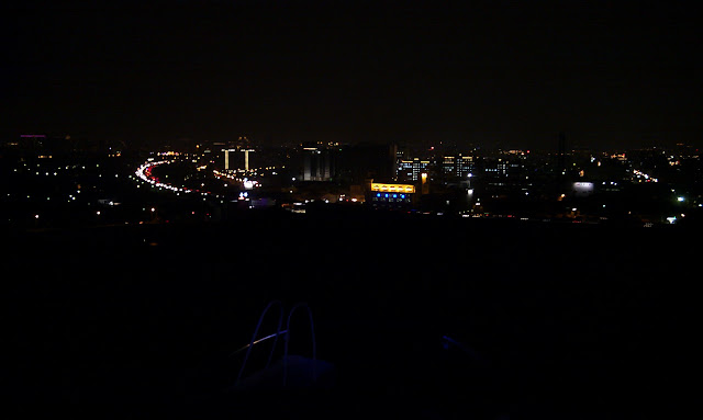 大東山夜景之高速公路與竹北夜景