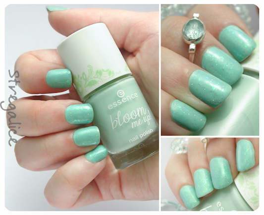 Essence Glisten Up! and Blow My Mint shimmer teal layering
