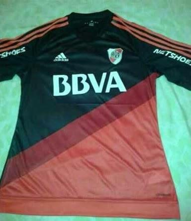 Nueva, Camiseta, Suplente, Alternativa, River, River Plate, 2015, Adidas, Negra,