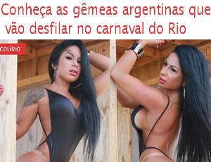 Gêmeas fitness argentinas vão estrear no carnaval do Rio