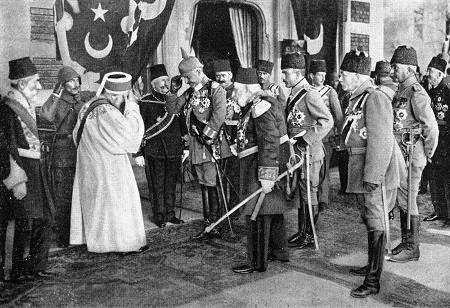 Why did the Ottoman Empire join world war one?