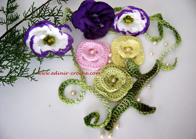 flores em croche para tic-tac dvd volume 3 video aulas com edinir-croche