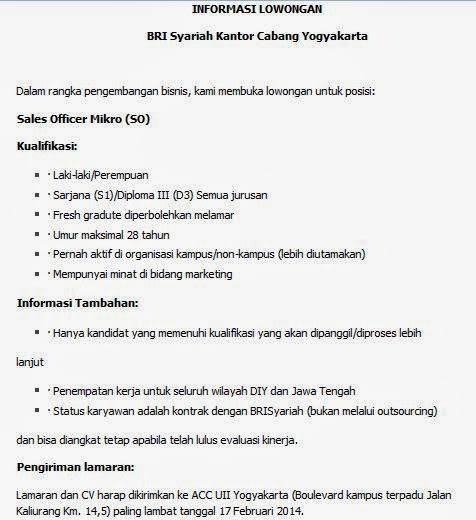 info-lowongan-kerja-terbaru-yogyakarta-februari-2014-bank-bri