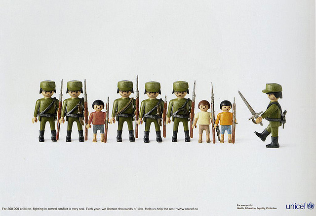 Playmobil Image, Canadian UNICEF, advertisement
