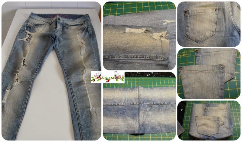 Aprovechando la tela de un pantalón