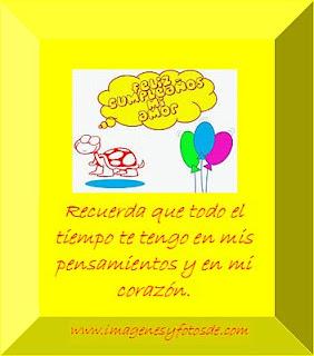 Tarjeta de Cumpleaños Romantica con Tortuguita