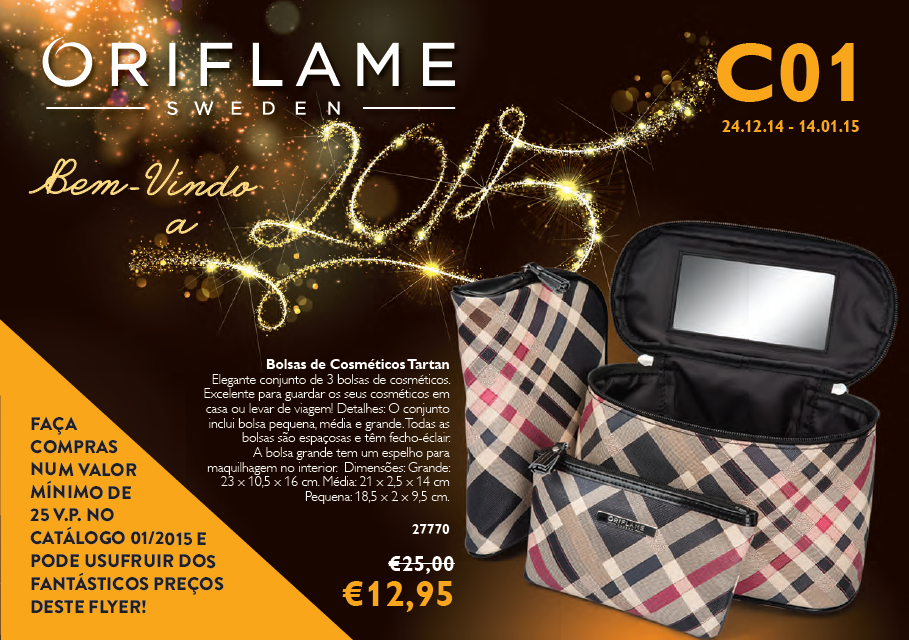 Flyer do Catálogo 01 de 2015 da Oriflame