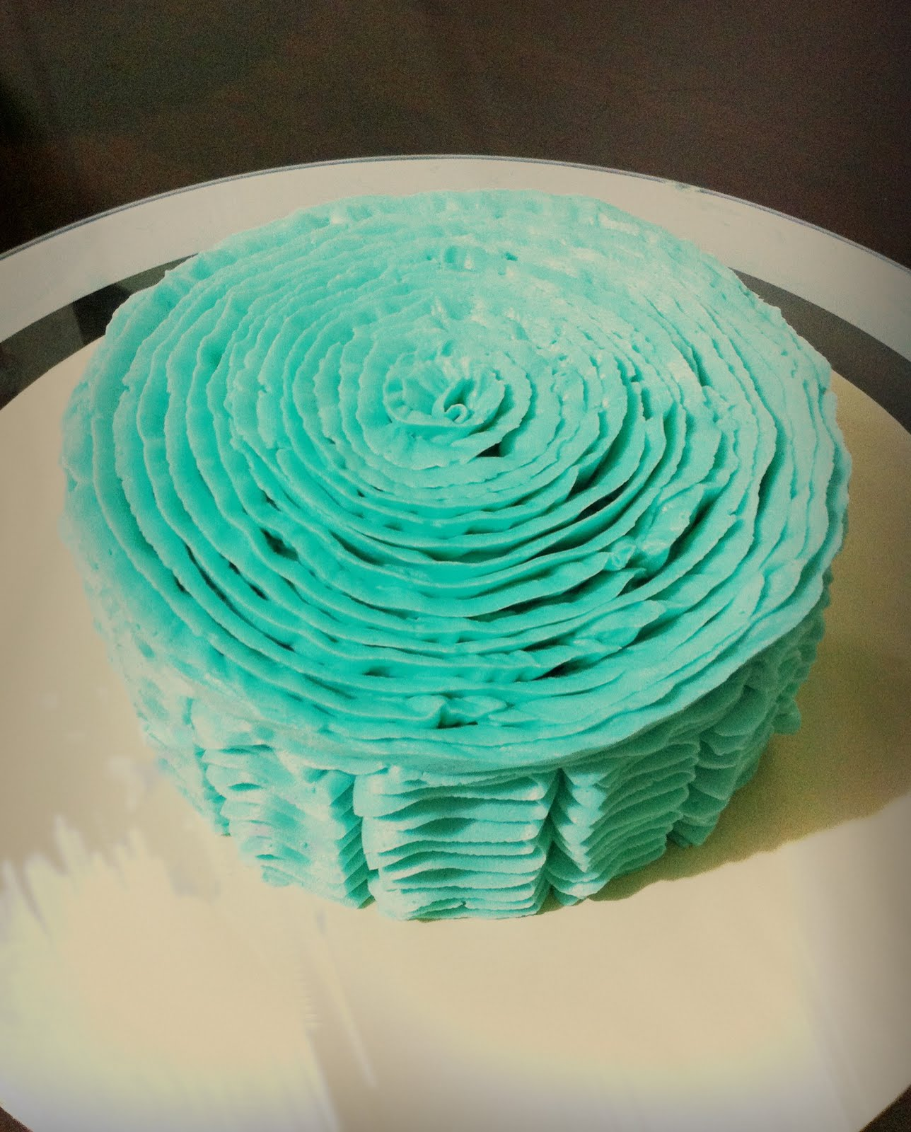 Sweet Art Cake Company Buttercream : Sweet Art Cakes by Milbree Moments: Turquoise ruffle ...