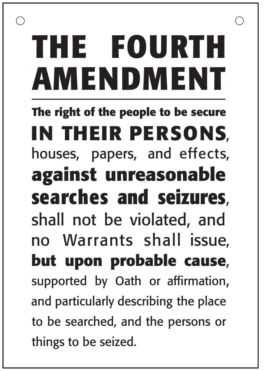 4th amendment persuasive essay
