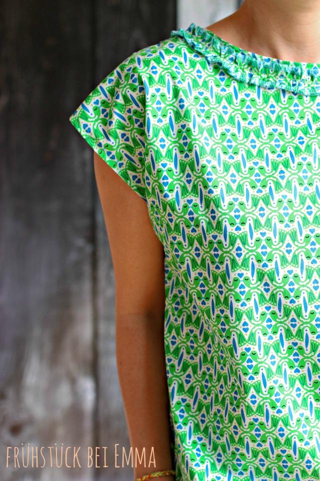 Grüne Bluse nach dem Schnitt Frau Frida - Frühstück bei Emma