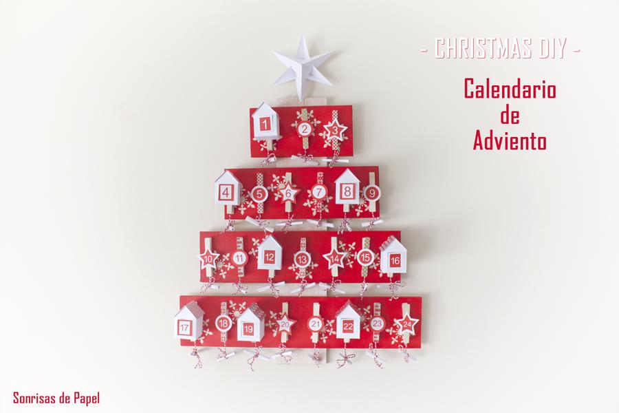 DIY - Calendario de Adviento - Árbol de casitas de papel - Handbox ...