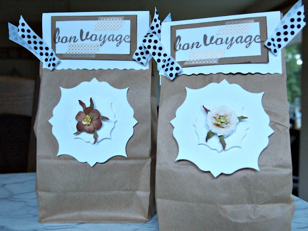 Bon Voyage Treat Bags and Bidding The Design Team Adieu