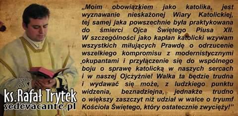 NASZ DUSZPASTERZ - X. RAFAŁ TRYTEK (SEDEVACANTE.PL)
