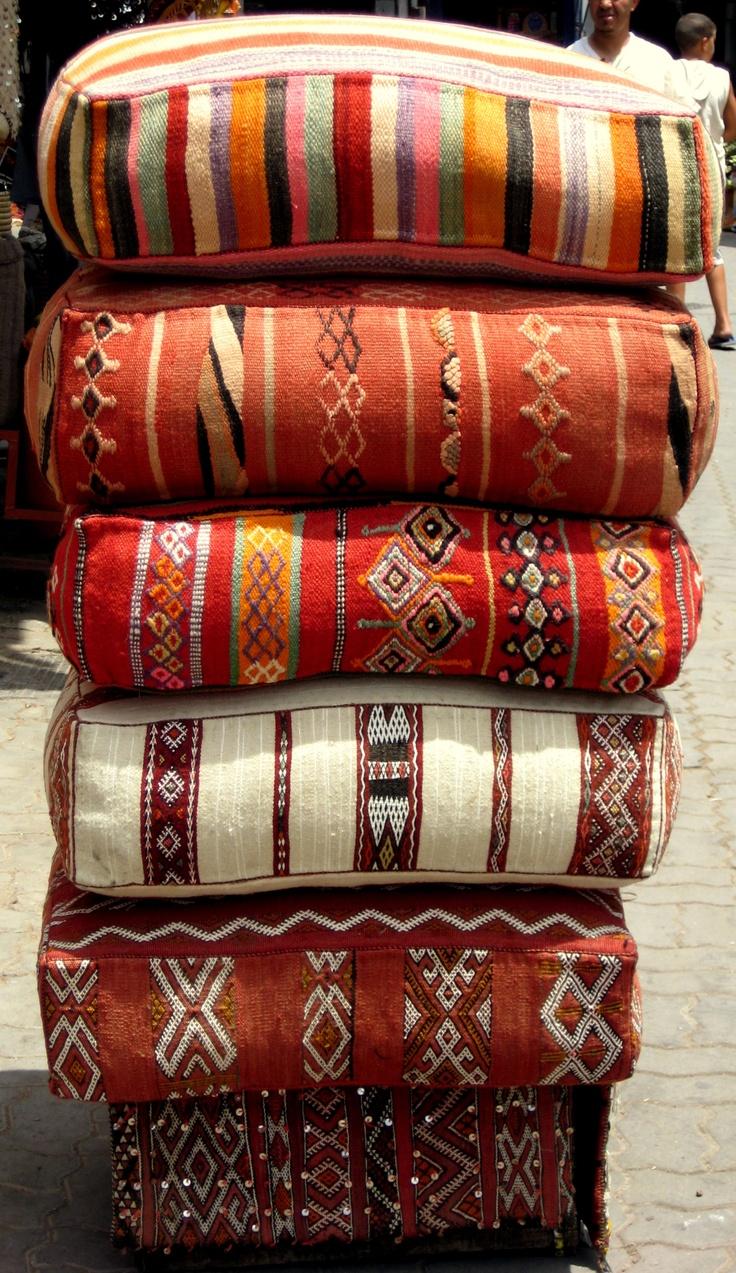 Large Moroccan Floor Pillows : Moon to Moon: Kilim Cushion Dream .....