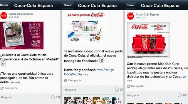 coca cola cuenta en line