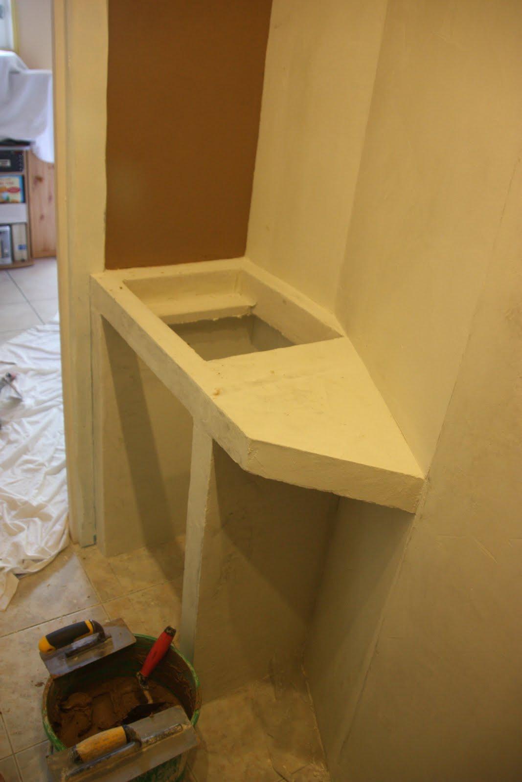 Entreprise de ma onnerie creation d 39 une salle d 39 eau en for Beton cire nettoyage